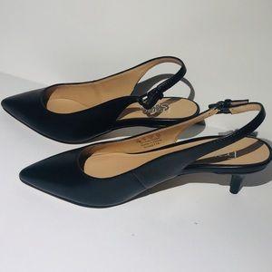 Franco Sarto Shoes - Franco Sarto Black Dionette Slingback Heels